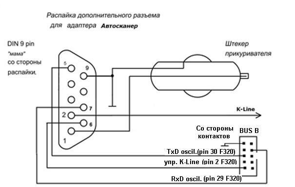 Схема адаптера ваз 2110